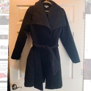 Black pea coat trench jacket